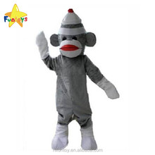 Funtoys CE Grey Sock Monkey Halloween Animal Mascot Costume