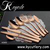 Keyelse Copper Cutlery Rose Gold Cutlery