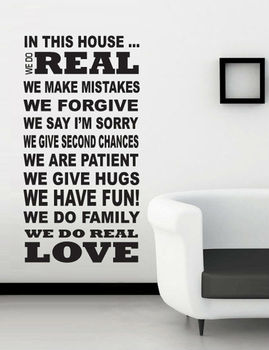 House Rule Wall Sticker for home