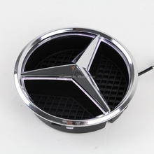 LED Logo Light Front Emblem Lamp Car Front Grille Star Emblem Badge for Mercedes-Benz