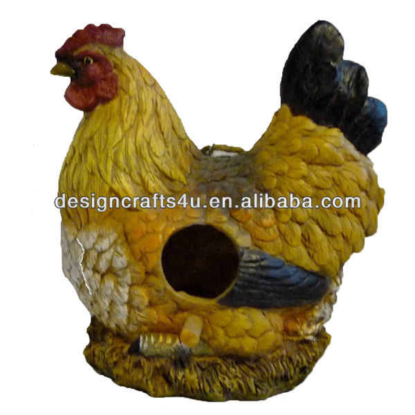 Hanging Birdhouse Made of Polyresin for Chicken Lovers