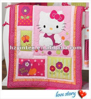 Cute Hello Kitty Baby Girl Crib Bedding Set