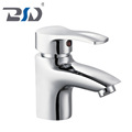 Deck Mounted Single Lever Mono Bathroom Basin Mixer Faucet Chrome Plated For UK