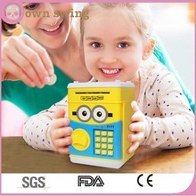 Minions Style Money Saving Box Cash Coin Can Safe Atm Bank Novelty Tin Birthday Gift/piggy Money Banks Atm Safty Banks