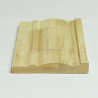 Raw finger jointed wood baseboard and skirting