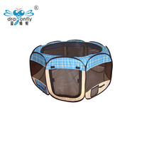 Folding Pet Playpen Portable Dogs Cat Small Animals Play Pen Cage Tent Kennel Crate