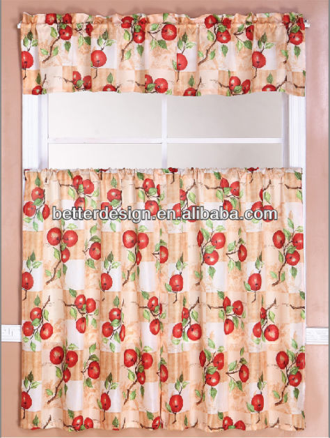 CHEAP COLORFUL TERYLENE EMBROIDERY KITCHEN CURTAIN