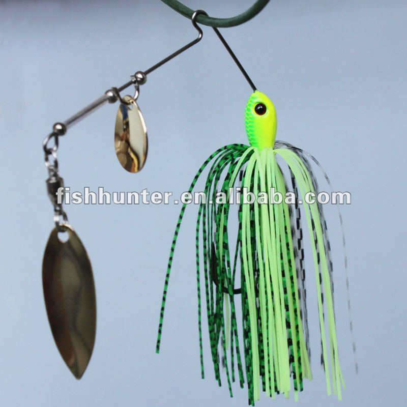 Wholesale Shandong metal Fishing lures 3D eye <strong>Q13</strong>-G02-7 spinner bait 7g fishing gear