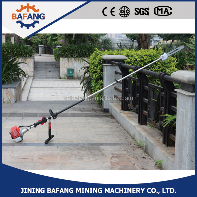 Petrol garden long Pole Gasoline chain saw pole trimmer cutting machine