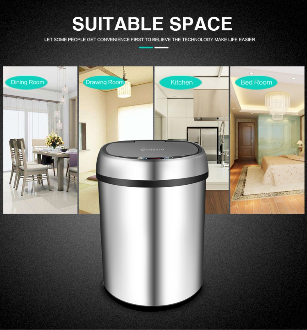 Hot selling!!kitchen /hotel/school/outdoor sensor stainless steel trash can waste bin