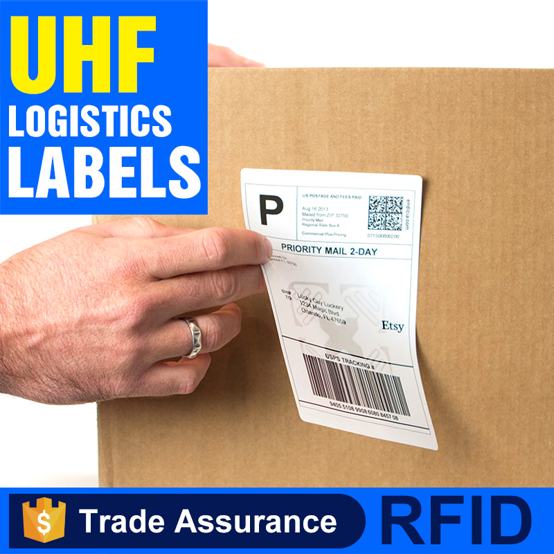 Cheap self adhesive long range active sticker UHF RFID logistics tag for tracking