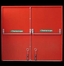 Lowes Metal Fireproof Double Exterior Doors Emergency Exit Door Made In China