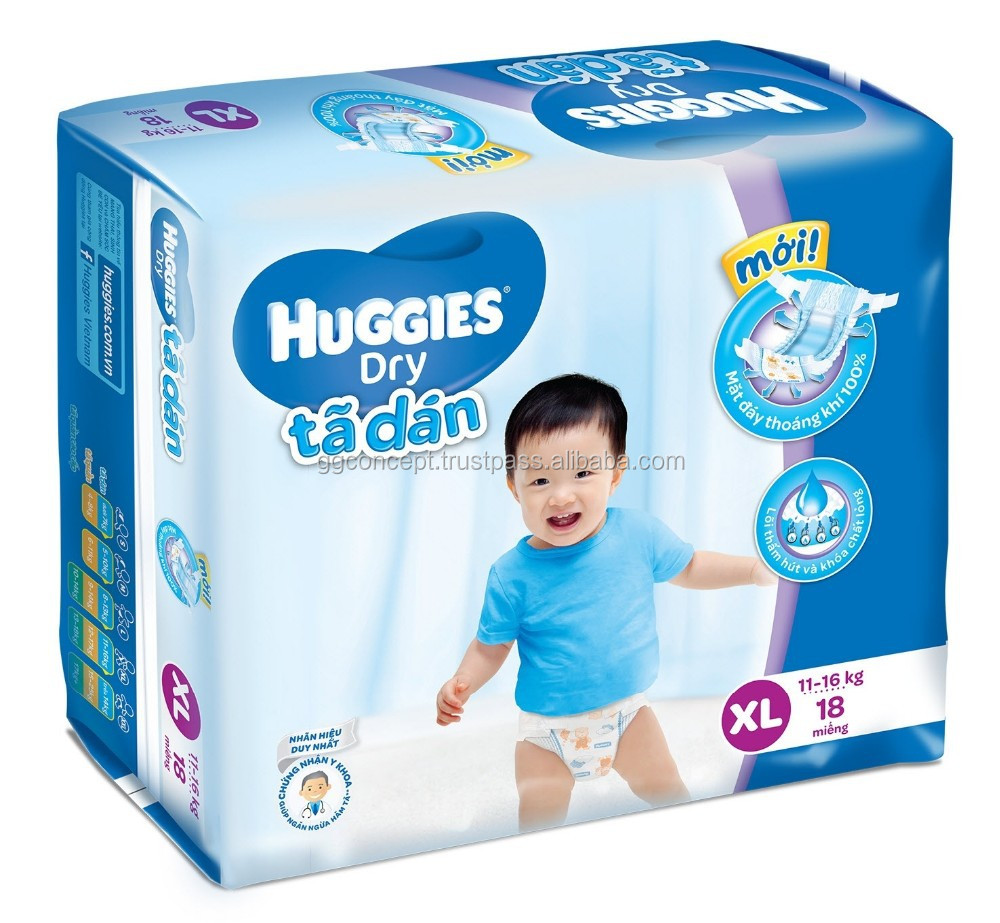Huggies dry Medium (XL 18) /diaper dry/ sleepy baby diaper/