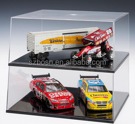 High Quality Acrylic Model Display Case With Lift-Off Top, Black Base