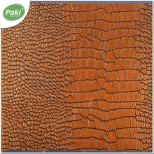 1.1mm crocodile PU embossed faux leather fabric
