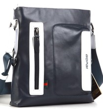 High grade soft waterproof genuine leather men's trendy messenger bags