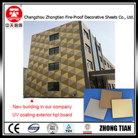 eco-friendly fireproof High pressure laminate exterior wall panels exterior hpl sheet