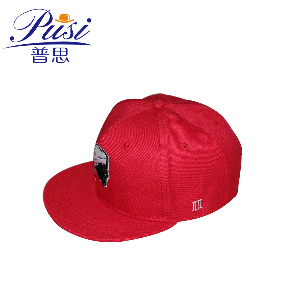 Red Cotton Twill Snapback Cap <strong>w</strong>/ Custom Logo