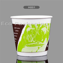 Disposable logo printed double wall paper coffee cup for hot drink