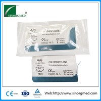 Surgical Non Absorbable Monofilament Polypropylene Non