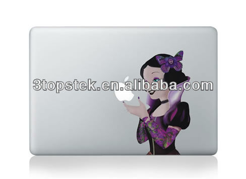 Unique vinyl skin for MacBook, Snoopy apple flag,Let you life more fun