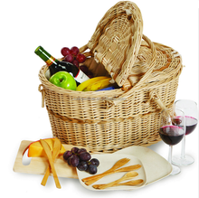 2015 new design bamboo picnic basket