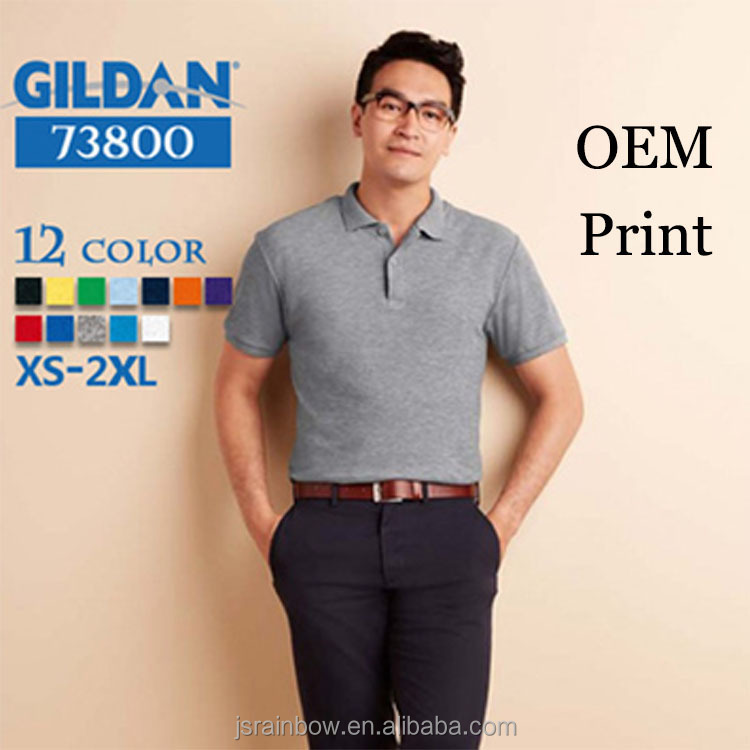 2016 high quality gildan 200gsm plain blank polo t shirts for men
