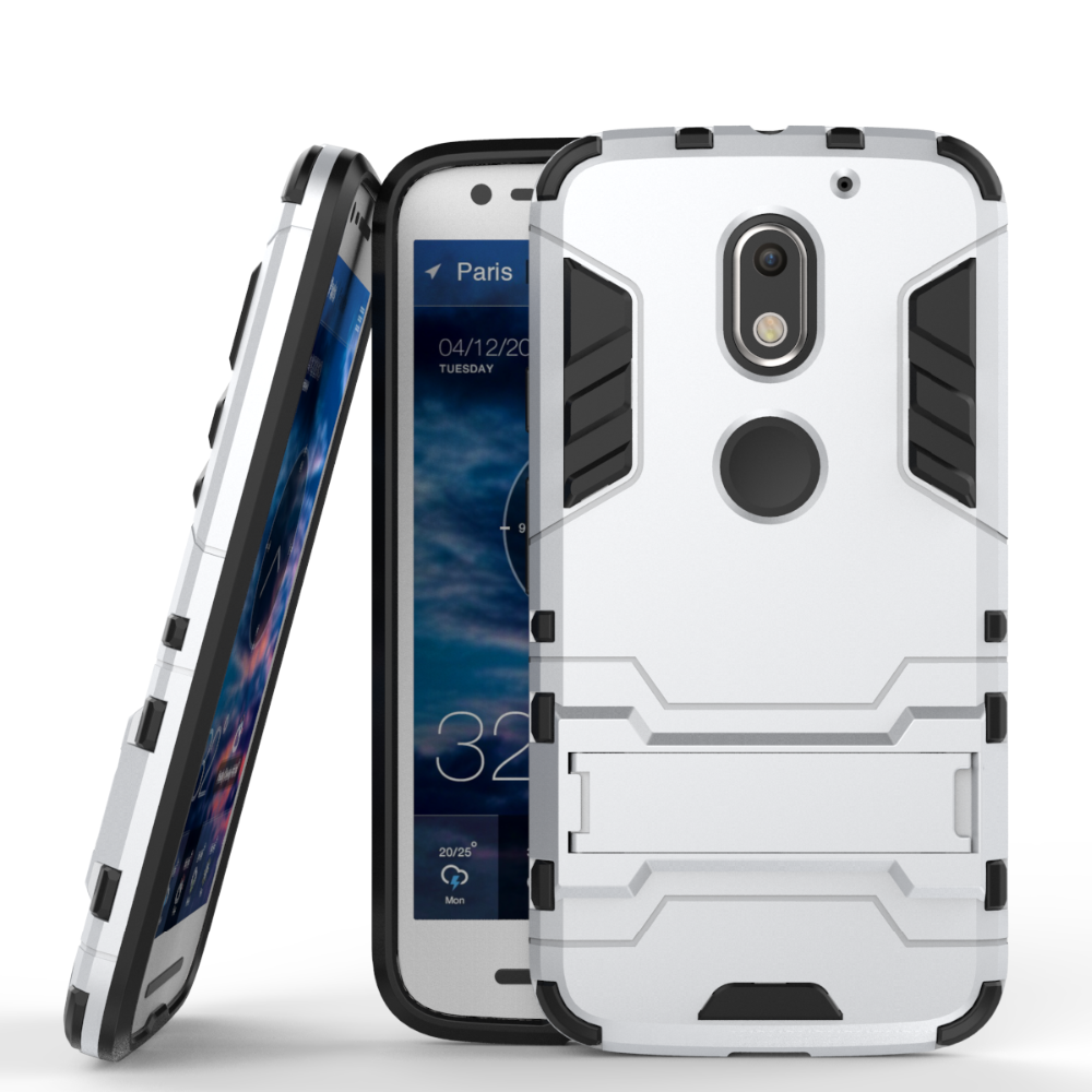 Popular Style Shockproof kickstand TPU PC bumper case for moto e3
