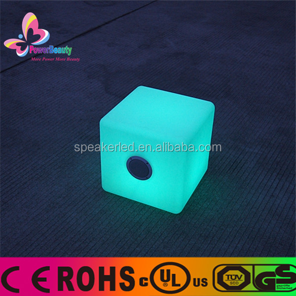 2015 professional dj hot sale wireless outdoor mp3 waterproof cube bluetooth speaker with led