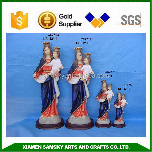 Polyresin handmade Catholic Religious Our Lady of Mt Carmel ornaments