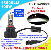 100% Brightest P9 100W 13600lm Newest Ultra h11 led kit headlight 9005 9006 hid xenon lamp moto newest all in one plug&play 24v