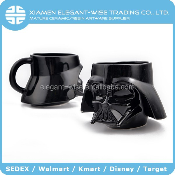 Custom painted ceramic mugs with disney and marvel ,sedex audit