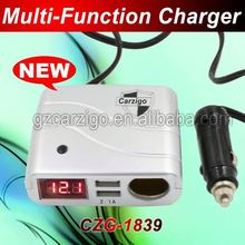 second USB interface 0.2 off the price China wholesale 5v 1000 mA 2.1A output sun car battery charger