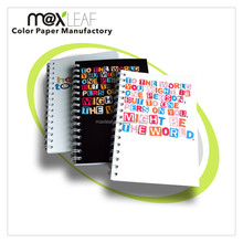 Customized logo printed wire-O or single spiral notebook