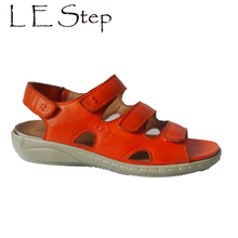 European design vegetable-tanned leather sandals slingback removable insoles comfortable sandals women