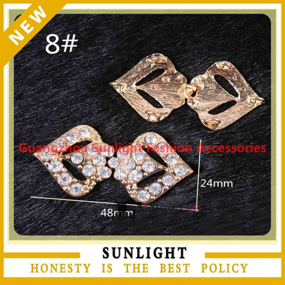 China Manufacturer flower rhinestone pair buckle for belts