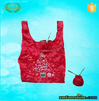 reusable 210d polyester foldable shopping bag