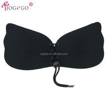 North America hot selling seamless adhesive backless silicone strapless bra push up