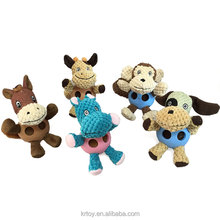 wholesale custom TPR material cute pets Interactive dog chew toy