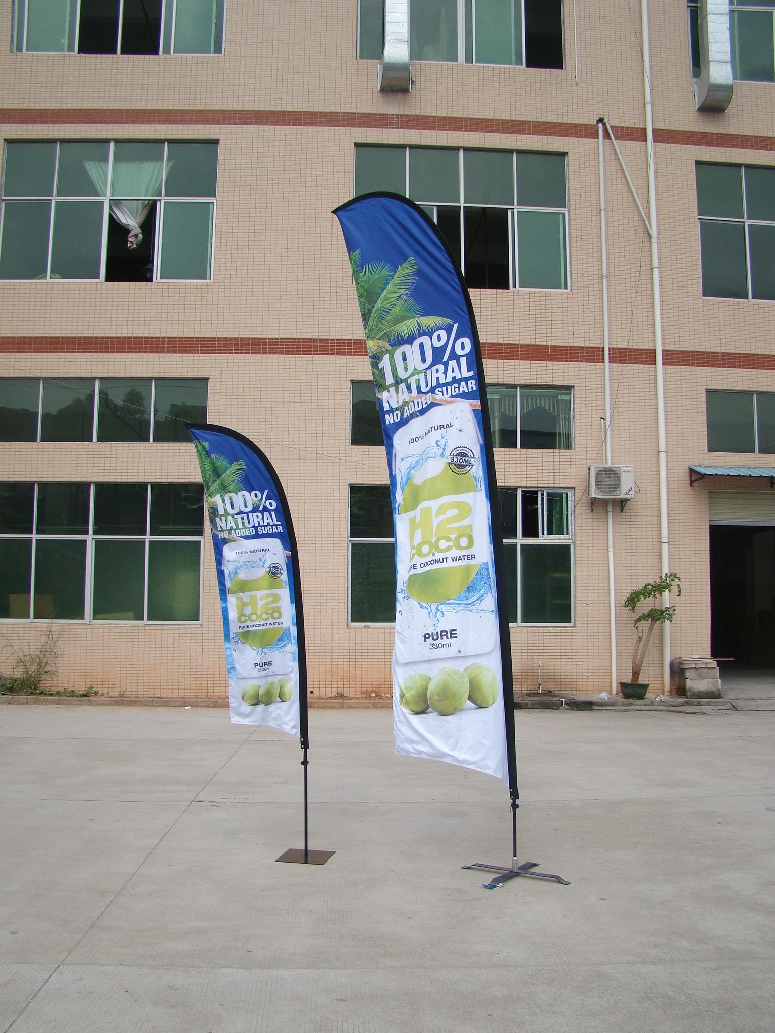 Outdoor Advertising Beach Flag