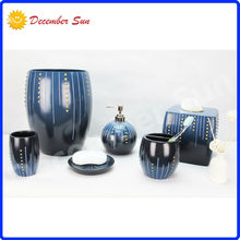 black and blue funky orb finish resin bathroom accessories