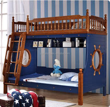 Hot selling wooden kids double deck bed with classical warmly design bunk bed