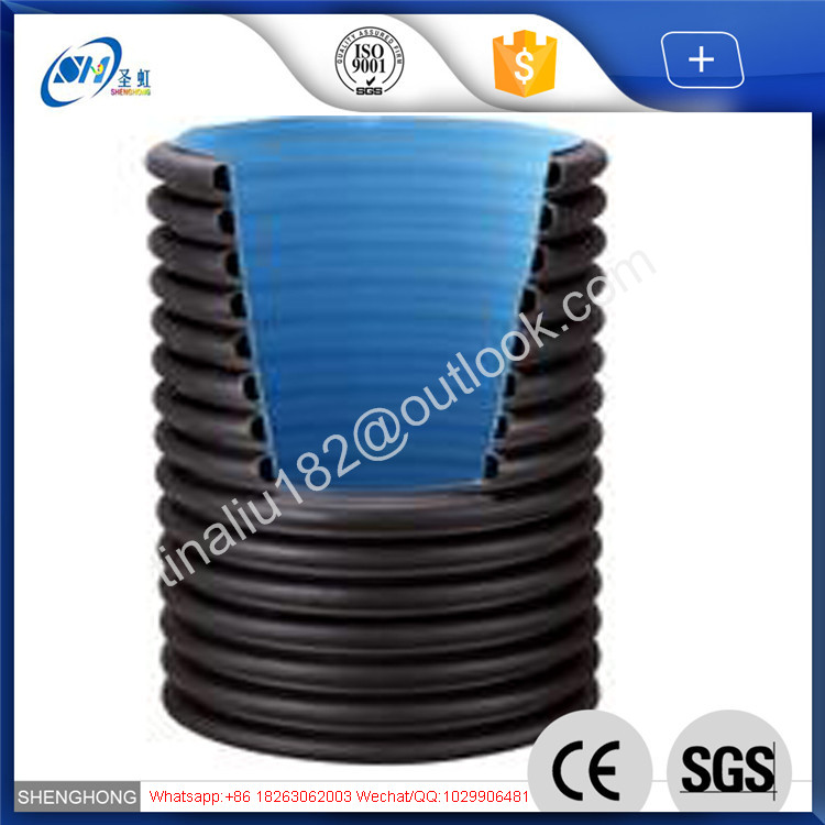 2 hdpe 100mm perforated corrugated drainage pipe for Municipal Engineering