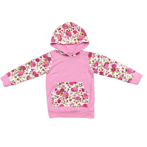 Wholesale Infant clothing floral long sleeve Baby Hoodie Fall Baby Clothes