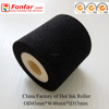 OD 45mm * W 40mm * ID 15mm Black 100 - 140 Deg Printing Temperature Printer-Ribbons Sponge Ink Roller with Batch Code Machine