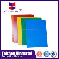 Alucoworld Aluminum Plastic Compound Panels pvdf acp sheet for wall cladding