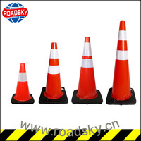 700mm Rubber Base No Parking Barricade Cones