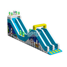 Custom made PVC material commercial cheap snow inflatable slide for kids BY-DS-005
