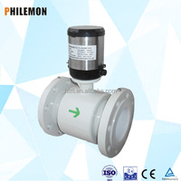 Latest design low cost water magnetic flow meter sensor electronic flow meter with CE