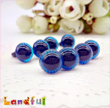 10mm Blue Stuffed Plush Toys Doll Parts Handcraft Plastic Animal Eyes